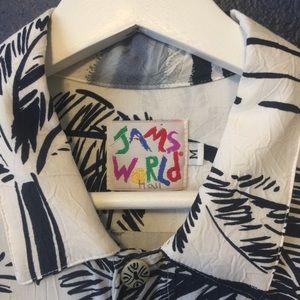 Jams World Shirts - JAMS WORLD BEACH PALM BUTTON UP RAYON SHIRT